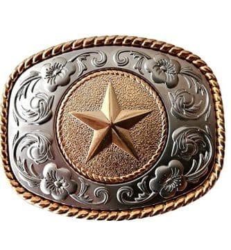 Hebilla cinturón estilo cowboy chapón para cinturón de 4 cm