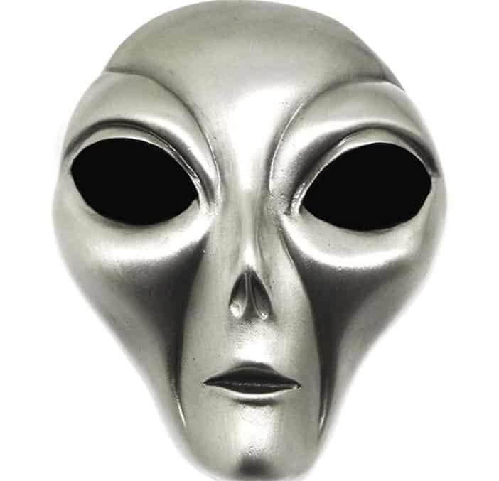 3D Extraterrestre Cabeza Hebilla de Cinturón - Temática