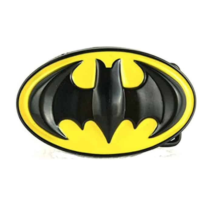 Batman Occidental superhéroe Negro Amarillo Metal Hebilla de cinturón