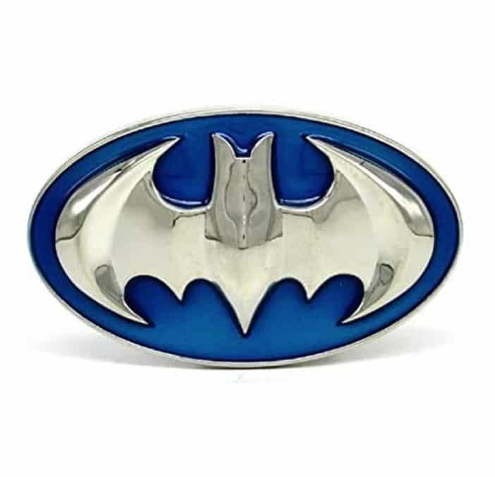 RQWY Hebilla de cinturón 3D Clear Blue Batman Superhero