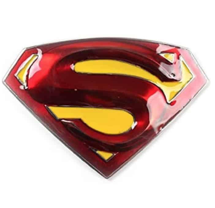 Patch Nation Superman Cosplay Metal Hebilla de cinturón
