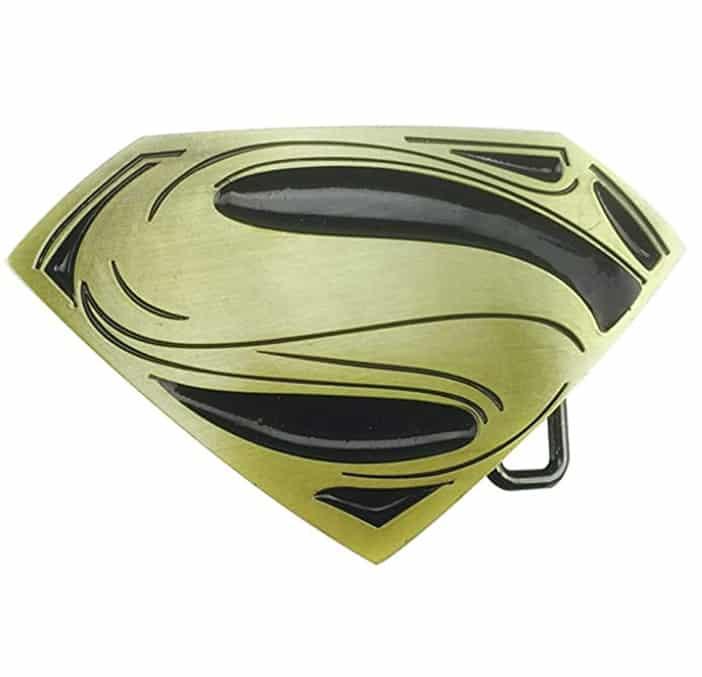 2 piezas de aleación de zinc Superman película hebilla de cinturón