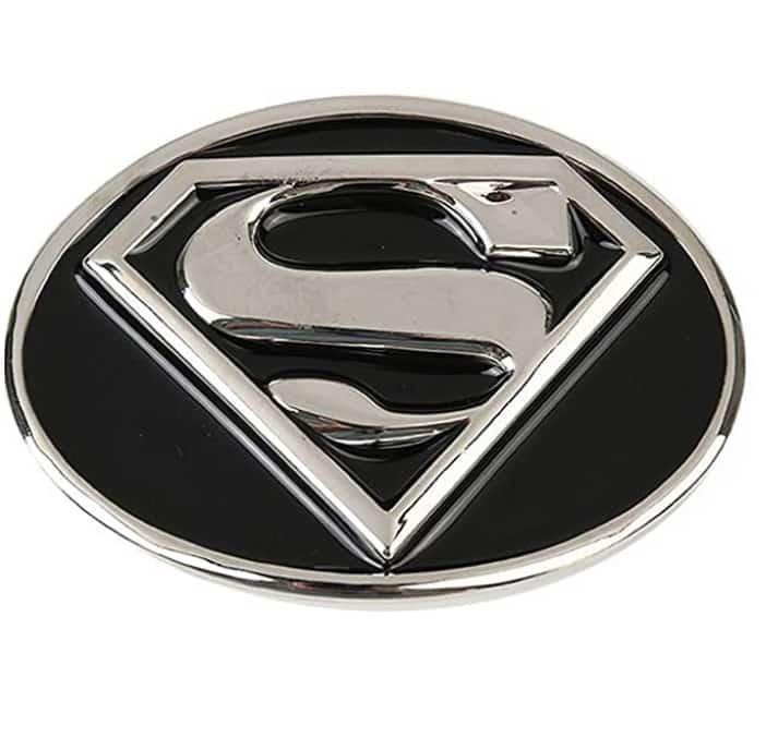 2 piezas de aleación de zinc Negro Película Superman hebilla