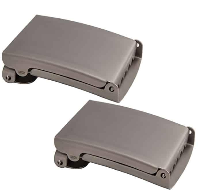 Shenky - Hebilla para cinturón de tela de 4 cm de ancho - Metal mate