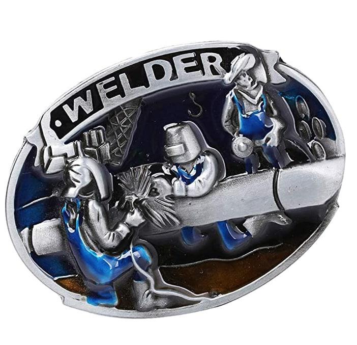 Hebilla de Cinturón de Abalorios Turquesa Estilo Vaquero Occidental