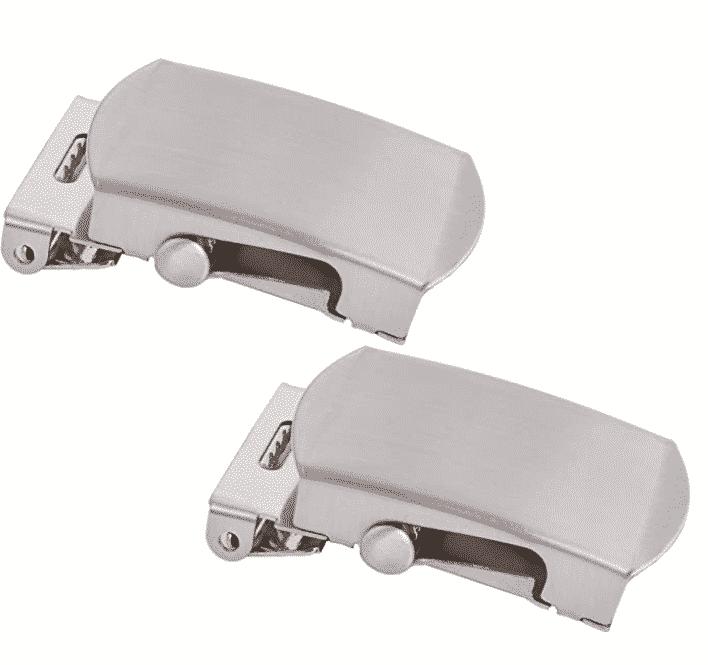 Shenky - Hebilla para cinturón de 4 cm de ancho - Metal plateado