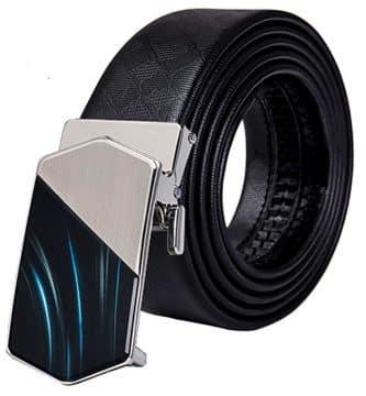 hebilla automática, correas de cinturón de lujo, color negro