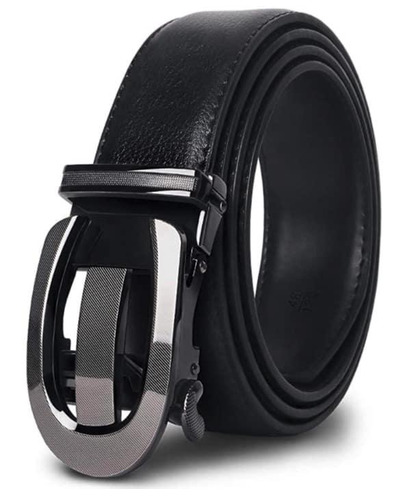 Cuero Cinturones Piel Automática Con Hebilla Trinquete