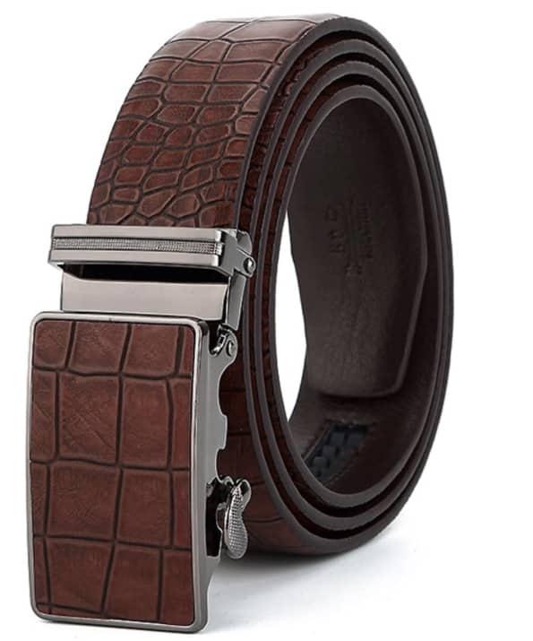 Cinturones de Piel Diseñado con Hebilla Automática de 125 cm de Longitud