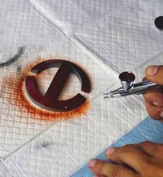 pintando una hebilla