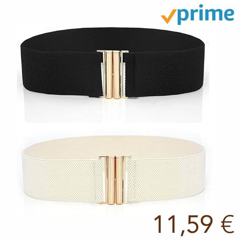 2 Piezas Cinturón Elástico Ancho de las Mujeres, Cinturón Elástico Vestido de Moda Cintura
