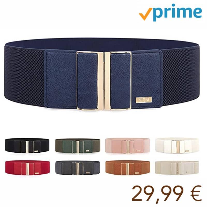 cinturones finos con hebilla metálica muy brillante en varios colores